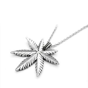 Accessories - Cannabis Leaf and Skulls Necklace Pot Weed Pendant